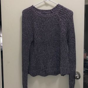 Scalloped Purple sweater